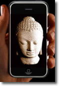 Iphone with buddha