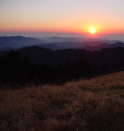 Sunset over Long Ridge near Jikoji