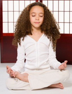 child meditating