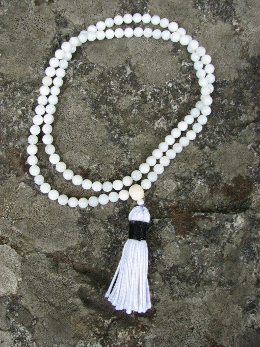 mother of pearl mala