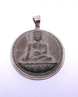 stone buddha pendant