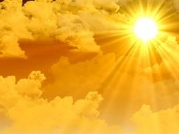 Warme Sonnenstrahlen