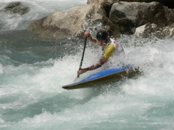 kayaking on rapids