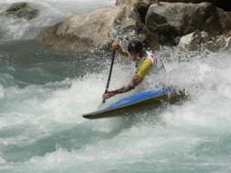 kayaking on rapids