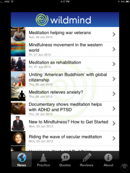 wildmind's iphone app
