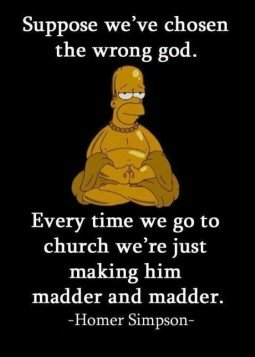 Homer Simpson and God