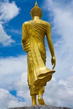 Standing Buddha statue, Thailand