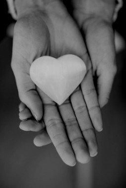 stone heart hand