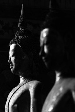 Black and White Buddha Statue