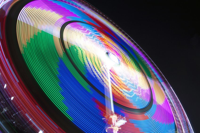 Fun fair long exposure Photo taken at the fun fair of Hoorn