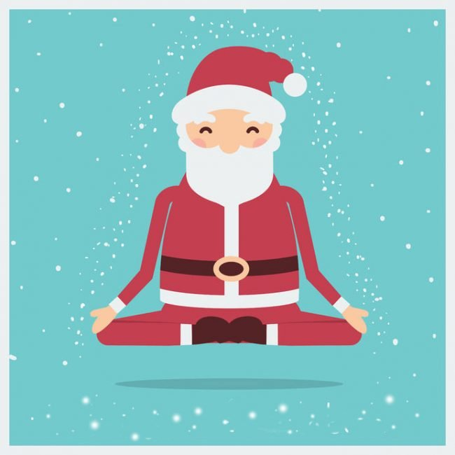 meditating santa