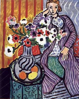 Woman in purple robe, Matisse