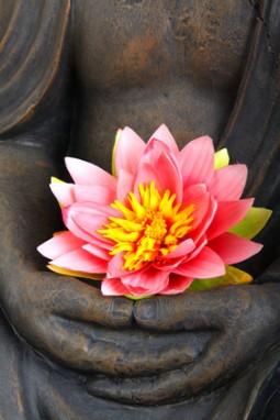 Buddha with lotus