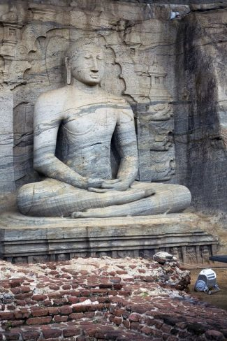 15120291 - seated buddha in meditation at polonnaruwa