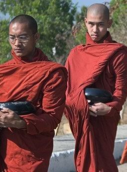 begging monks