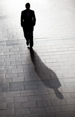 Silhouette of business man