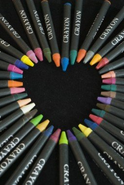 Colourful Crayon Heart