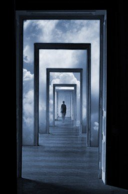 mindfully walking through doors