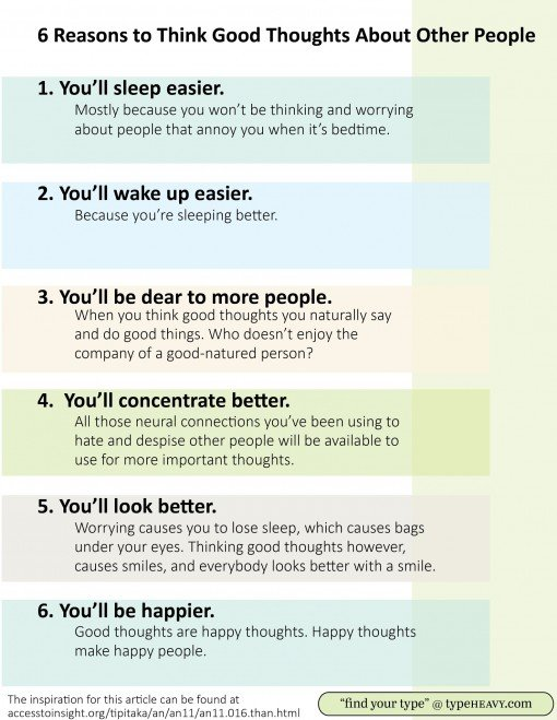6 Reasons to think good thoughts