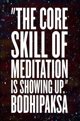 bodhipaksa quote: core skill of meditation