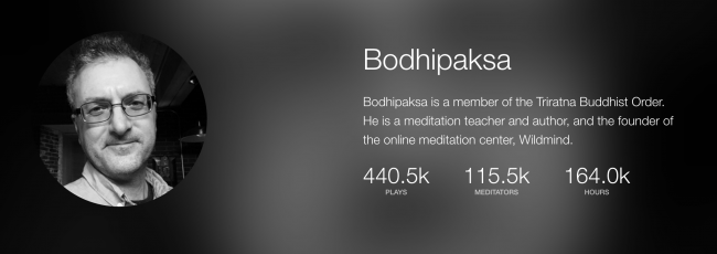 bodhipaksa's Insight Timer profile
