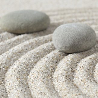 Stepping zen stones on a sand