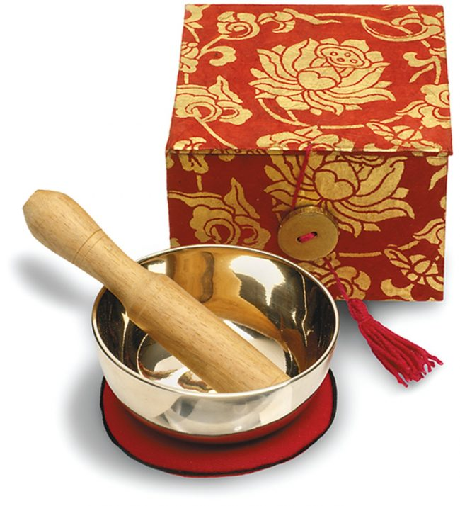 Red Lotus Meditation Bowl and Box